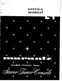 manuel de réparation Marantz 24