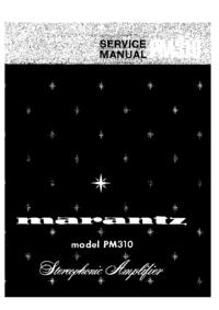 Manuale di servizio Marantz PM310