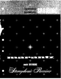Manual de servicio Marantz SR8100DC