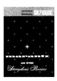 Manual de serviço Marantz SR7100DC