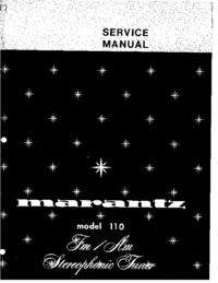 Service Manual Marantz 110