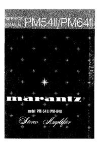 Service Manual Marantz PM54II