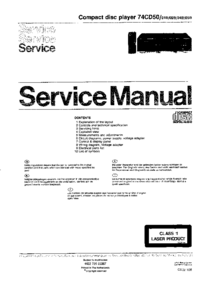 manuel de réparation Marantz 74CD50