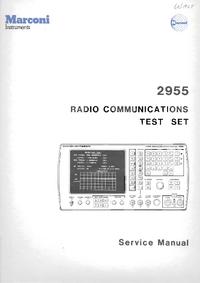 Instrukcja serwisowa Marconi 2955