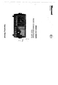 Manual do Usuário Marconi 2955R