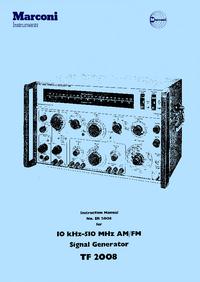 Service-en gebruikershandleiding Marconi TF 2008