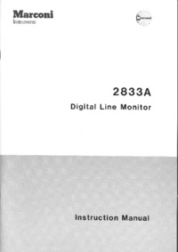 Service and User Manual Marconi 2833A