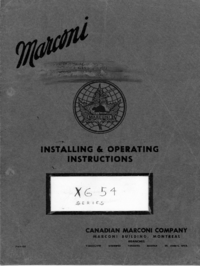 Service and User Manual Marconi XG 54