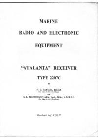 Service and User Manual Marconi Atalanta 2207C
