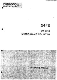 Bedienungsanleitung Marconi 2440