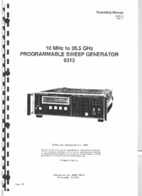 Bedienungsanleitung Marconi 6313