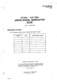 Руководство по техническому обслуживанию Marconi 2022E
