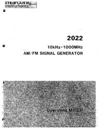 Instrukcja obsługi Marconi 2022