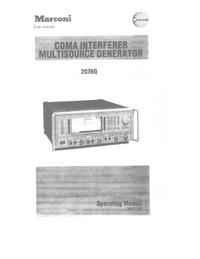 Instrukcja obsługi Marconi 2026Q
