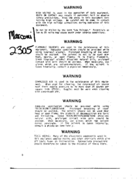 Service and User Manual Marconi 2305