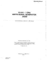 Instrukcja obsługi Marconi 2022D