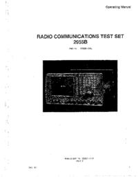 Gebruikershandleiding Marconi 2955B