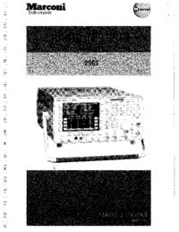Manual del usuario Marconi 2965