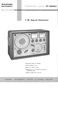 Scheda tecnica Marconi TF1066B/1