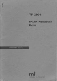 Servizio e manuale utente Marconi TF 2304