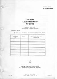 Manual de serviço Marconi TF 2356