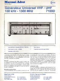 Fiche technique MarconiAdret 7100D