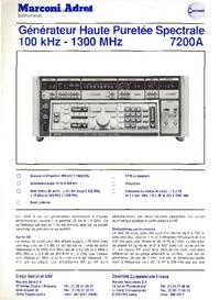 Технический паспорт MarconiAdret 7200A