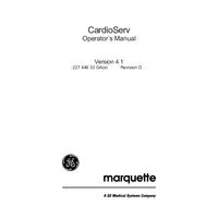 Bedienungsanleitung Marquette CardioServ