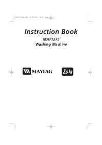 Manuel de l'utilisateur Maytag MAF1275
