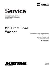 manuel de réparation Maytag MAH8700AW*