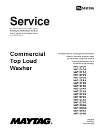 Service Manual Maytag MAT12CSD