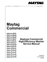 Manual de servicio Maytag MAH21PS