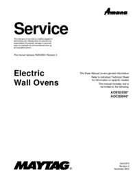 Instrukcja serwisowa Maytag AOCS3040*