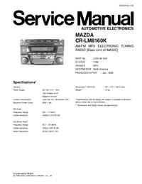 Manual de servicio Mazda CR-LM8160K