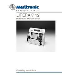 Manual do Usuário Medtronic Lifepak 12