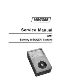 Service Manual Megger BM7-500