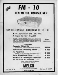 Service- und Bedienungsanleitung Melco FM-10