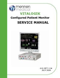 Service Manual Mennen VITALOGIK