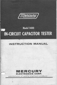 Serwis i User Manual Mercury 1400