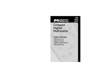 Manual del usuario Meterman 15XP