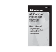 User Manual Meterman AC71