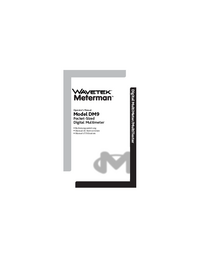 User Manual Meterman DM9