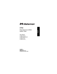 Gebruikershandleiding Meterman EPM3