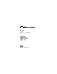 Gebruikershandleiding Meterman PM53
