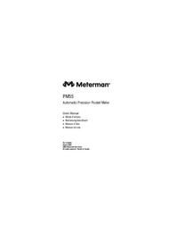 Manuale d'uso Meterman PM55