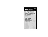 Gebruikershandleiding Meterman AC75