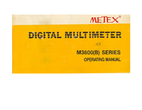 User Manual Metex M3600