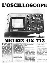 Cirquit diagramu Metrix OX 712