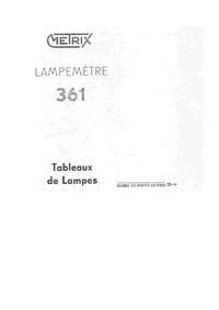 Manuale d'uso Metrix 361