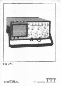 Gebruikershandleiding Metrix OX725